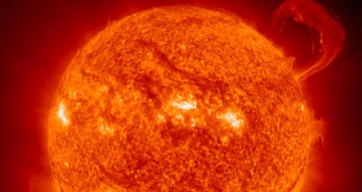 Eine Probuberanz auf der Sonne. Bild: SOHO/EIT-Konsortium
