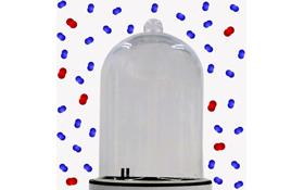Das Innere der Vakuumglocke ist frei von Luftmolekülen, sodass sich beispielsweise Schallwellen nicht ausbreiten können: Im Vakuum kann man nichts hören. Bild: DLR (CC-BY 3.0)