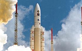 Flug 112 der Ariane 5. Bild: ESA/CNES/Arianespace