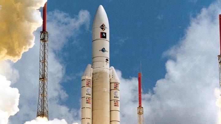 Start der Ariane 5. Bild: ESA/CNES/Arianespace