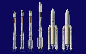 Ariane-Trägerraketen. Bild: ESA-D.Ducros