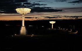 Antennen im DLR-Standort Neustrelitz. Bild: DLR (CC-BY 3.0).