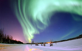 Polarlicht über Alaska. Bild: USAF