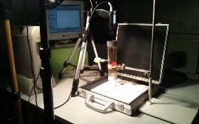 Versuchsaufbau zur Spektrometrie im DLR_School_Lab. Bild: DLR