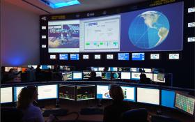 Columbus-Kontrollzentrum des GSOC in Oberpfaffenhofen. Bild: DLR