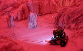 Mit dem ASURO-Roboter über den Mars. Bild: DLR (CC-BY 3.0)