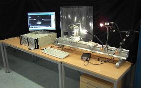 Versuch mit der Stroboskopkamera. Credit: DLR (CC-BY 3.0).