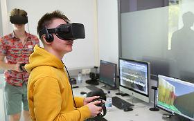 Unterwegs in der 3D-Welt. Bild: DLR