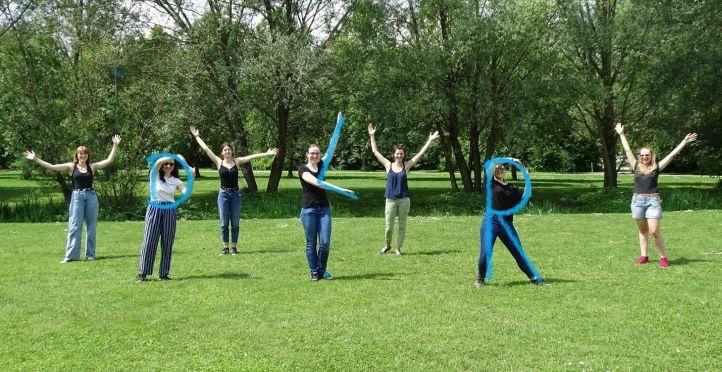 Die deutschen Teilnehmerinnen und Betreuerinnen des Projektes She Space International