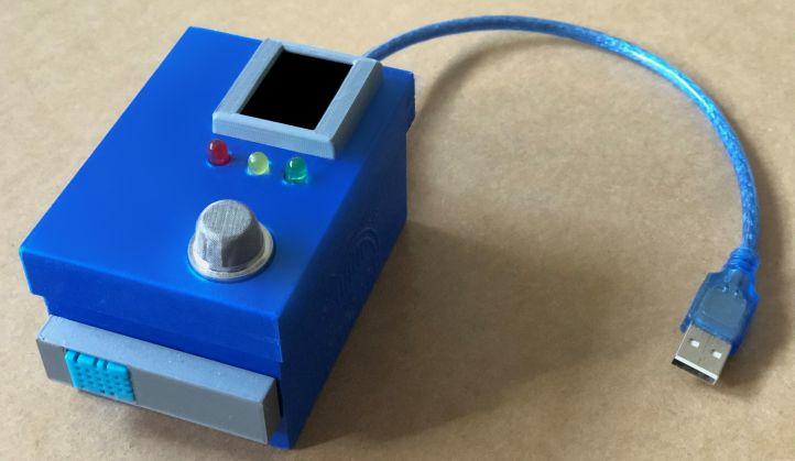 Diesen Raumklima-Sensor hat die Realschule Calberlah in Zusammenarbeit mit dem DLR_School_Lab Braunschweig entwickelt.