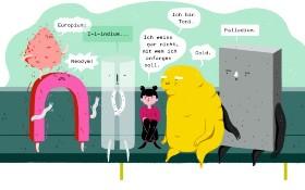 Szene aus dem Wissenschafts-Comic rund um die Figur Toni. Bild: Universität Augsburg