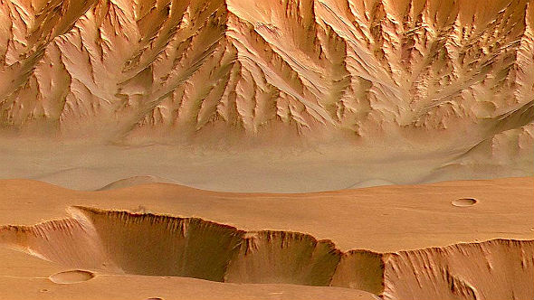 Mars in 3D is only one of many fascinating examples from the space field. Credit: DLR/Gossmann