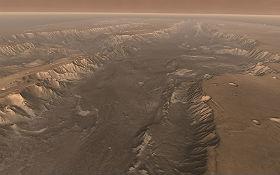 """Der gigantische Mars-Canyon """"Valles Marineris"""