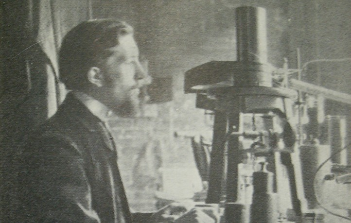 Pierre Curie in seinem Pariser Laboratorium.