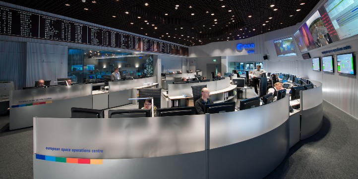 Experiment: Kontrollzentrum. Credit: DLR
