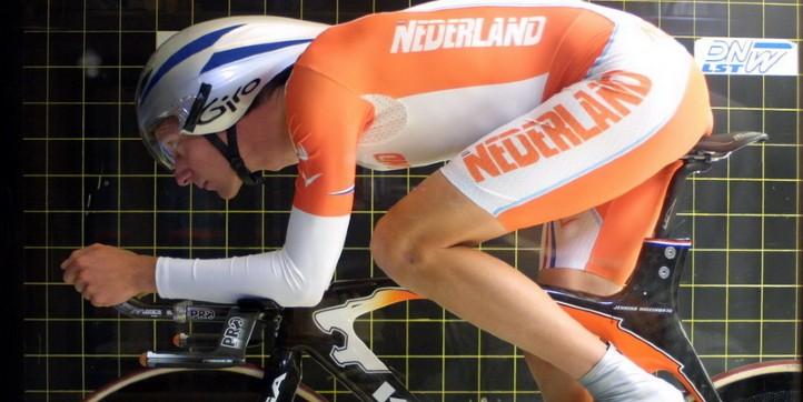 Radfahrer im Windkanal des DNW. Credit: DNW