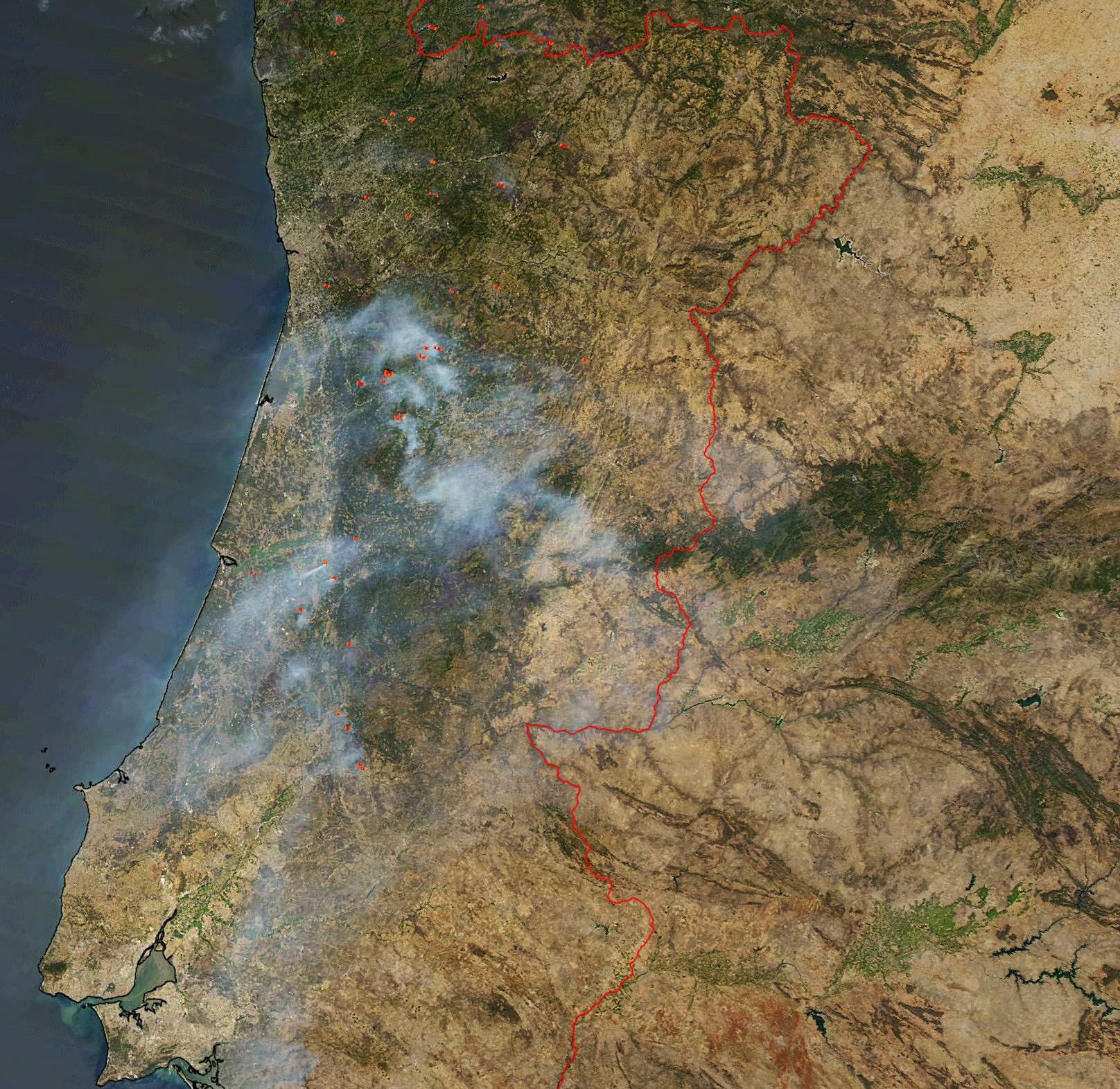 DLR DLRSchoolLab Infrared - Portugal map satellite