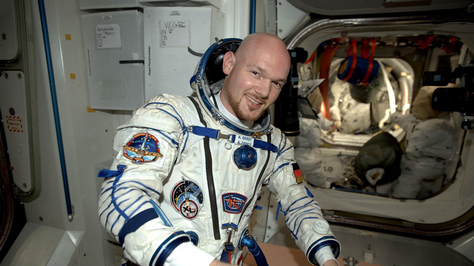 ESA-Astronaut Alexander Gerst an Bord der Internationalen Raumstation ISS (hier bei seinem ersten Aufenthalt im Jahr 2014). Bild: NASA/ESA