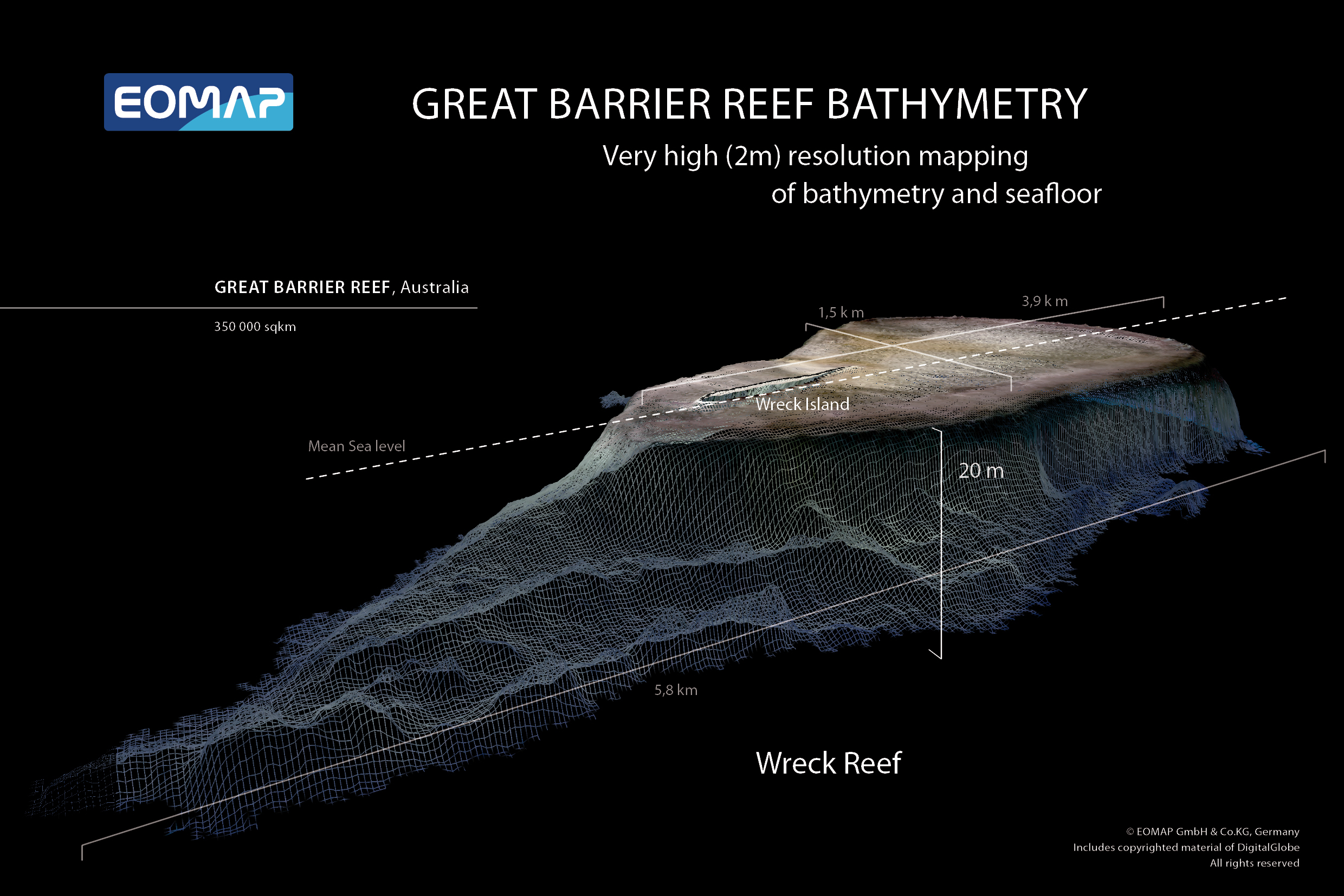 Barrier Reef Australia Map.Dlr Technology Marketing Launch Of The Great Barrier Reef Bathymetry