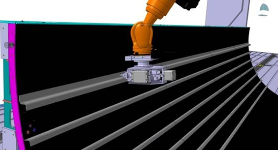 CAD%2dmodel of the stringer integration by continuous ultrasonic welding